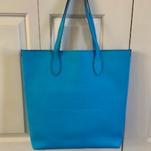 NWT Burberry Neon Blue Leather Remington Tote